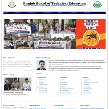 pbte edu pk at WI    Punjab Board of Technical Education, Lahore