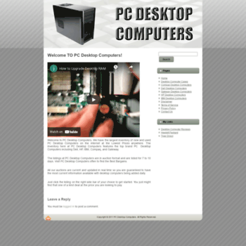 Pcdesktopcomputers.net thumbnail