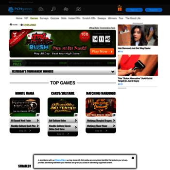 pchplayandwin com at WI  Token Games | PCH com