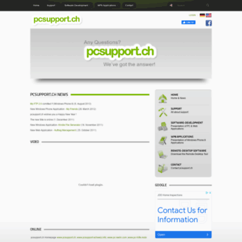Pcsupport.ch thumbnail