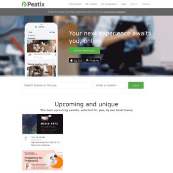 Бесплатный анализ сайта peatix.com