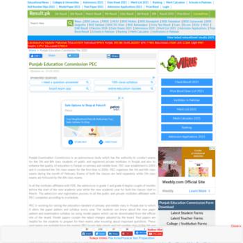 Pec.result.pk thumbnail