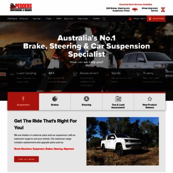 pedders com au at WI  Pedders Suspension – the car