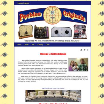 peeblesoriginals com at WI  Peebles Originals Crystal set