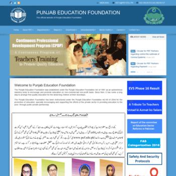 Pef.edu.pk.pefsis.edu.pk thumbnail