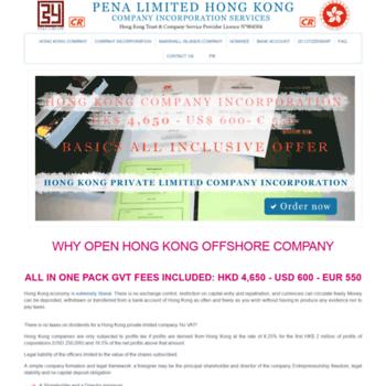pena hk at WI  Hong Kong Company Formation, setup company in Hong