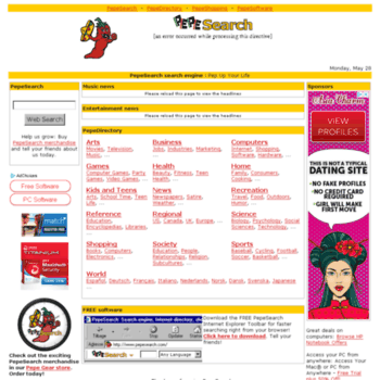 Pepesearch.com thumbnail