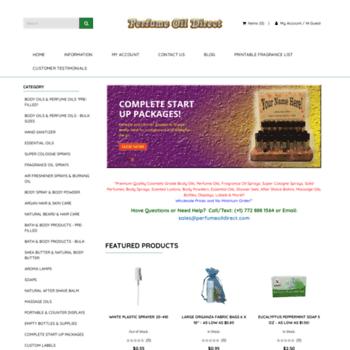 perfumeoildirect com at WI  Perfume Oil Direct |Wholesale