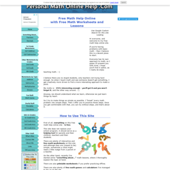 personal-math-online-help com at WI  Free Math Help Online