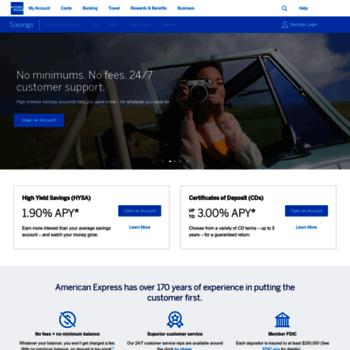 Persönliche Einsparungen American Express com log