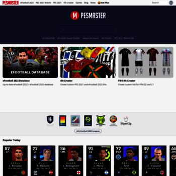 pesmaster com at WI  PES Master - Pro Evolution Soccer Database