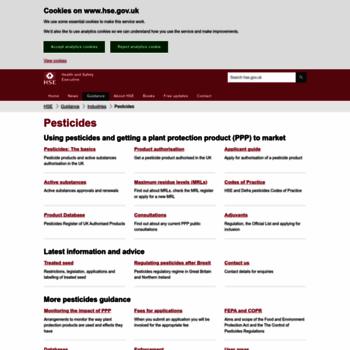 Pesticides.gov.uk thumbnail