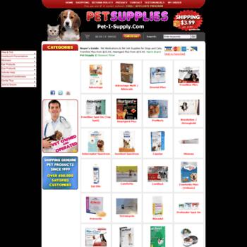 pet-i-supply com at WI  Discount Pet Meds / Vet Supplies for