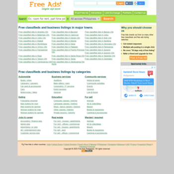 pgfreeads com ph at WI  Free Ads Philippines | free classifieds