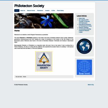 Philotecton.org thumbnail
