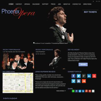 Phoenixopera.org thumbnail