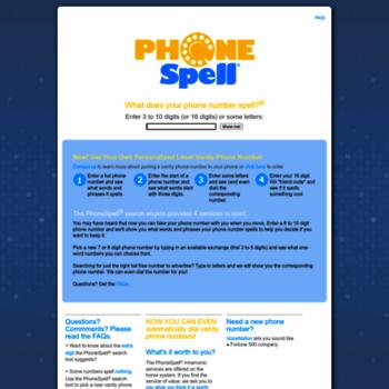 Phonespell.org thumbnail