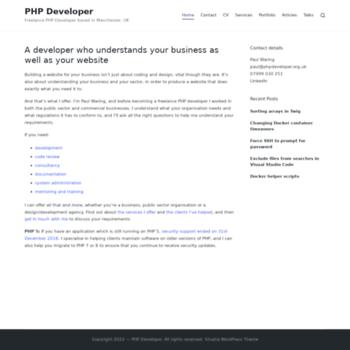 Phpdeveloper.org.uk thumbnail