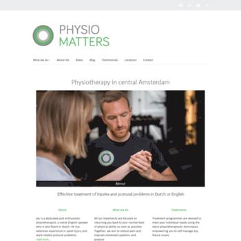Physiomatters.nl thumbnail