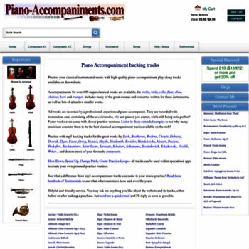 piano-accompaniments com at WI  Piano Accompaniment MP3 tracks