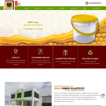 piberplastics com au at WI  Custom Moulding and Plastic