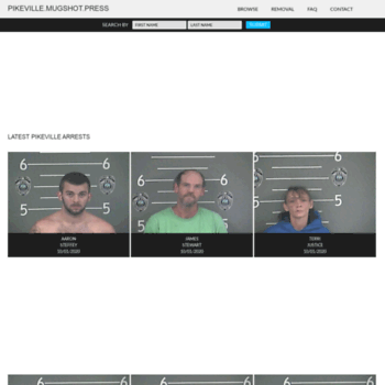 pikeville mugshot press at WI  Pikeville Mugshots | The