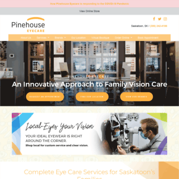 Pinehouseeyecare.ca thumbnail