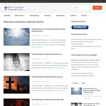 Pinnaclelutheran.org thumbnail