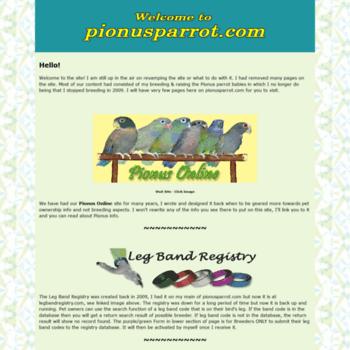 Pionusparrot.com thumbnail