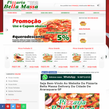 Pizzariabellamassa.com.br thumbnail