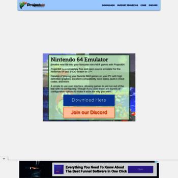 pj64-emu com at WI  Project64 - Nintendo 64 Emulator