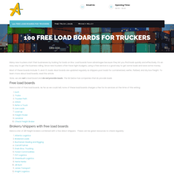 placestars com at WI  100 Free Load Boards for Truckers – For Owner