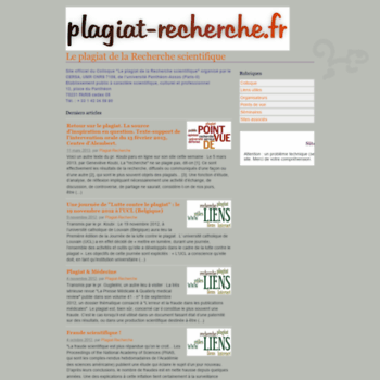 Plagiat-recherche.fr thumbnail