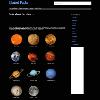 Planetfacts.org thumbnail