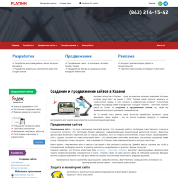 Веб сайт platinn.ru