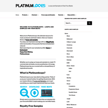 platinumloops com at WI  Loops and Samples to Feed Your Beats