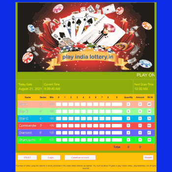 playindialottery in at WI  PLAY INDIA LOTTERY