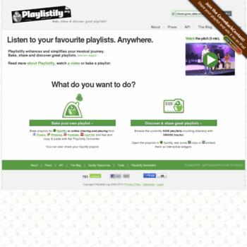 Playlistify.org thumbnail