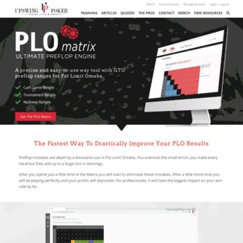 plomatrix com at WI  PLO Matrix: Ultimate Preflop Engine from