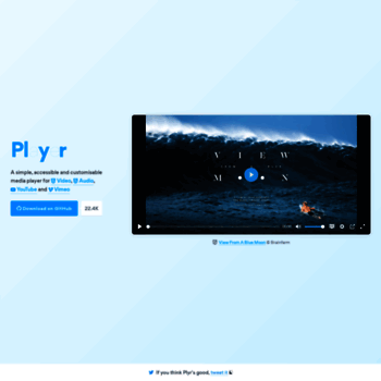 plyr io at WI  Plyr - A simple, customizable HTML5 Video, Audio