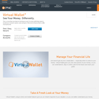pncvirtualwallet com at WI  Virtual Wallet is Checking