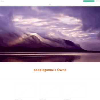 Веб сайт poeqlogunna.amebaownd.com