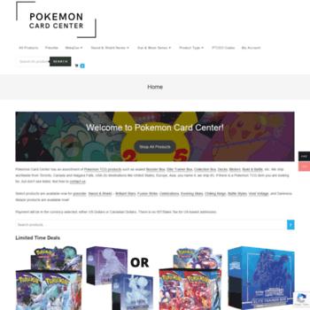 Pokemoncardcenter.com thumbnail