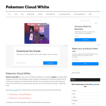 pokemon cloud white pokemon locations