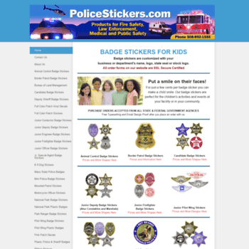 policestickers com at WI  Badge Stickers - Badge Stickers