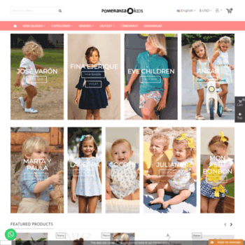 84353c7a0 Pomeraniakids.com thumbnail. Alexa Rank: 3707940. Pomerania Kids: Spanish  brands for kids clothes online.
