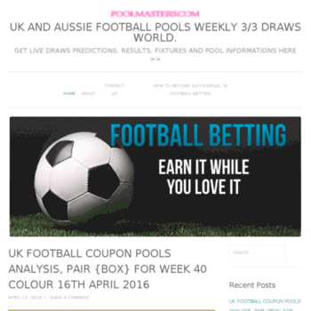 poolmasters wordpress com at WI  UK AND AUSSIE FOOTBALL