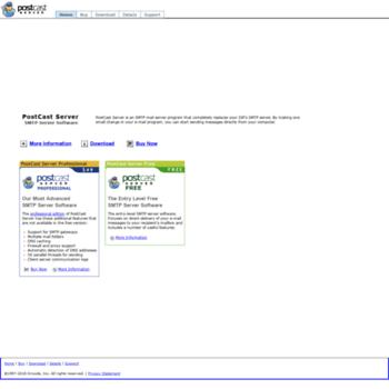 postcastserver com at WI  PostCast Server - Free SMTP Server