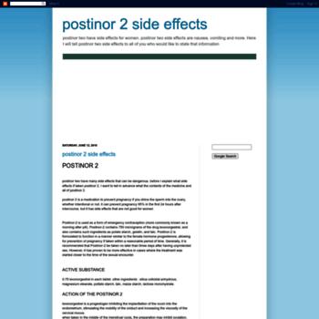 Postinor-2-side-effects.blogspot.com thumbnail