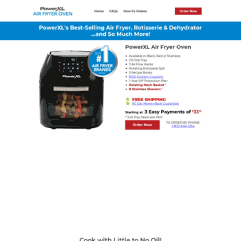 powerairfryer com at WI  Power AirFryer Oven, The healthy